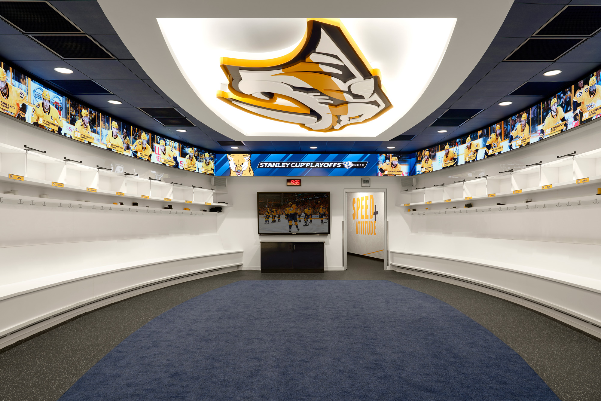 Nashville Predators Locker Room