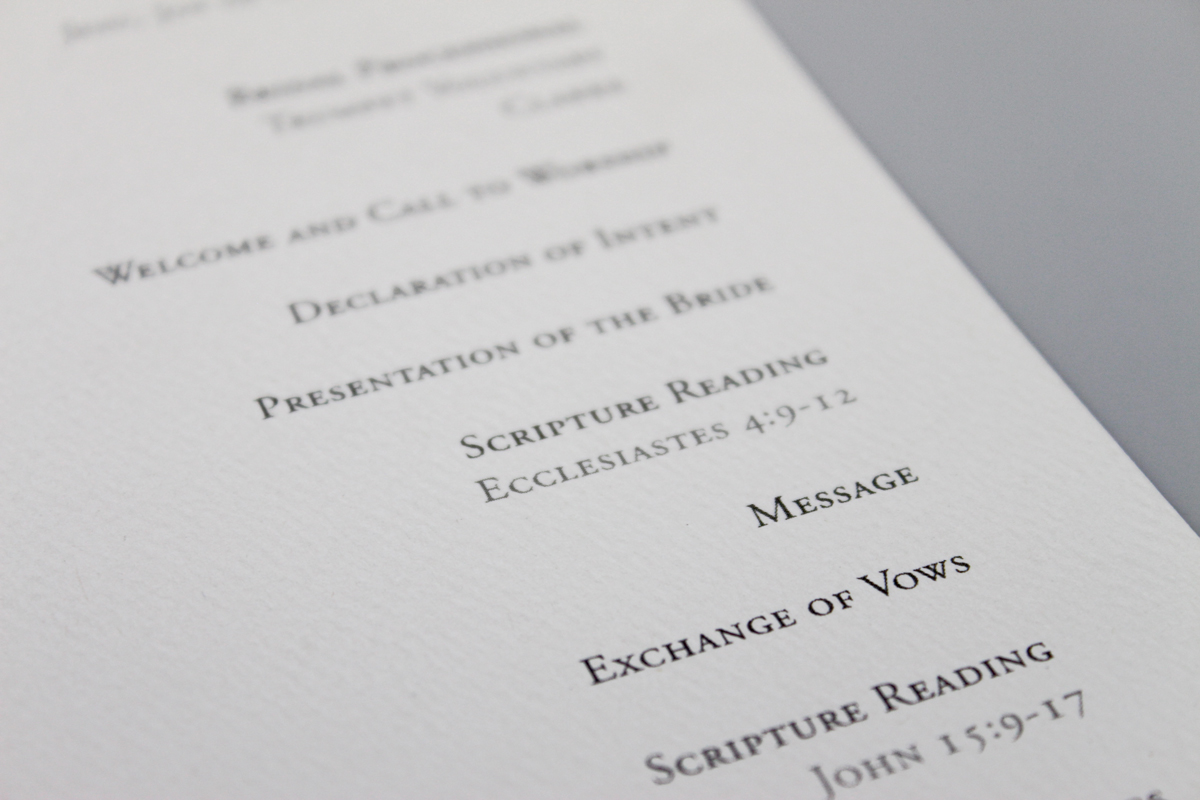 Wedding-Program-Type