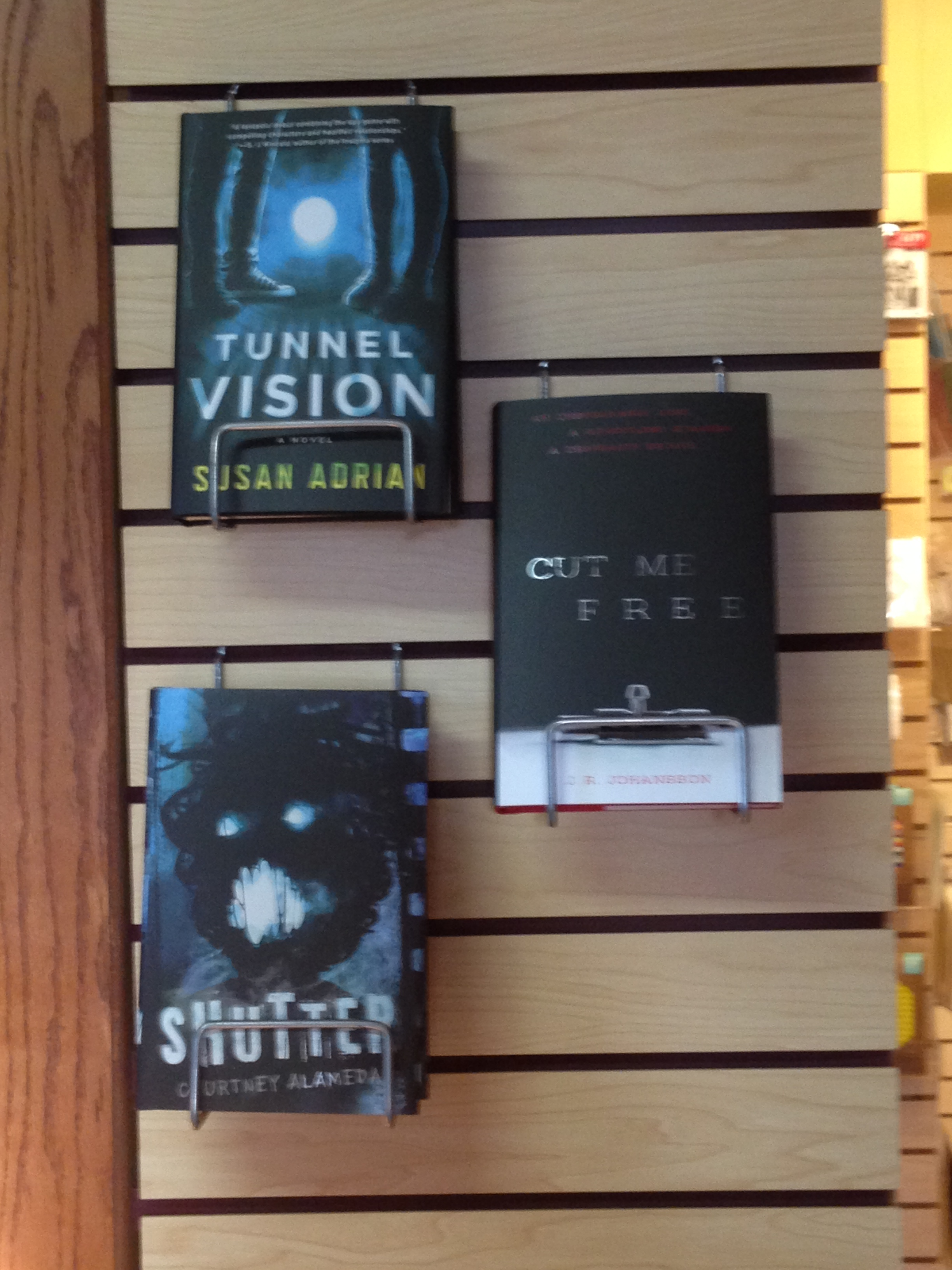 display of courtney alameda, jenn johannson, and my books at king's english!