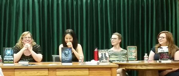 me, livia blackburne, mary mccoy, and gretchen mcneil at vroman's in pasadena!