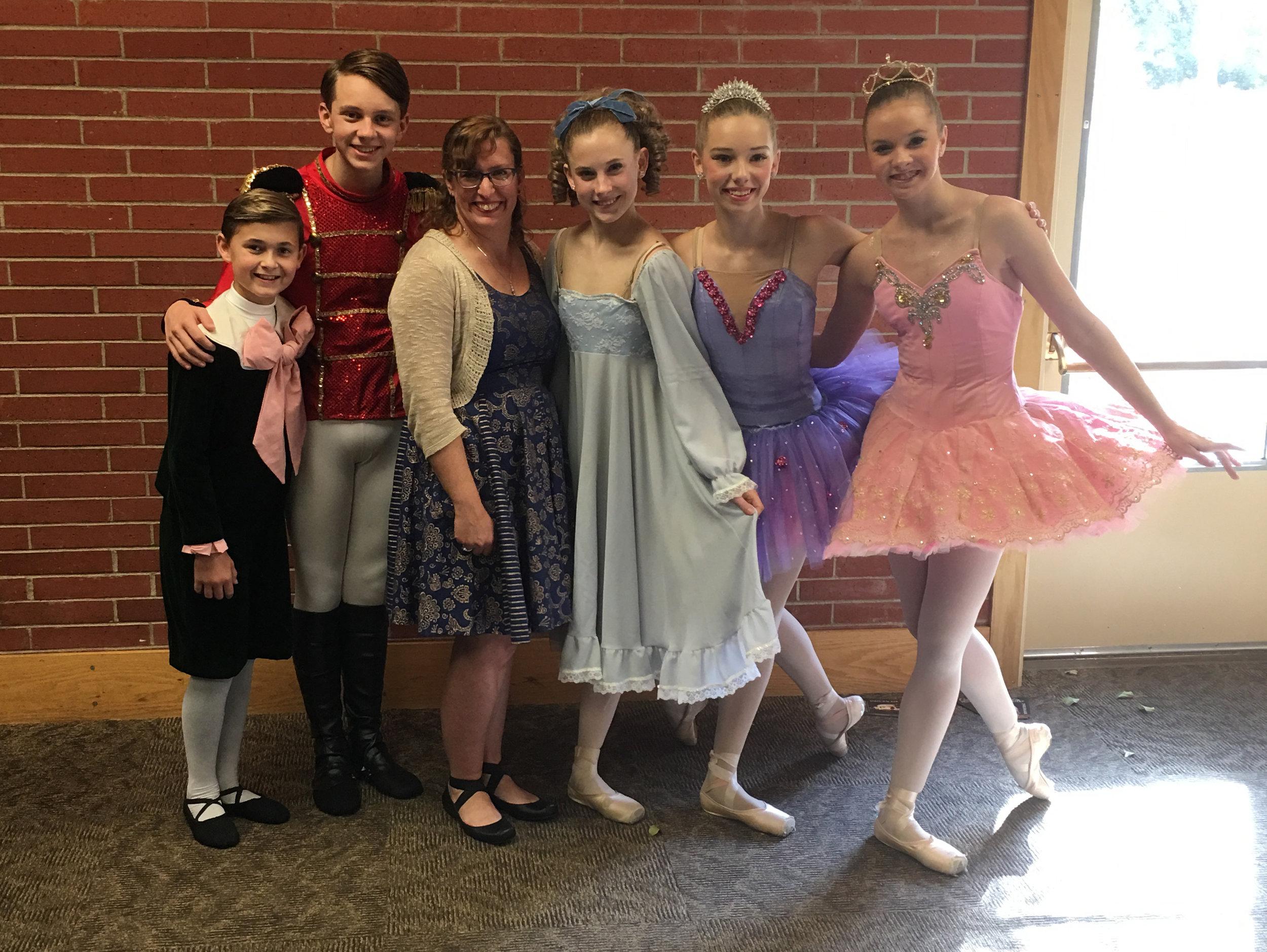 Me with the queen city ballet dancers in helena, montana!