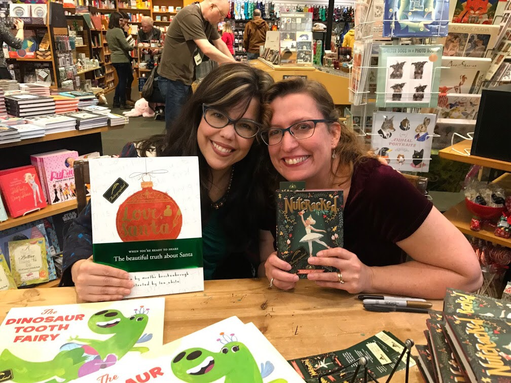 Me with the wonderful Martha Brockenbrough in seattle!