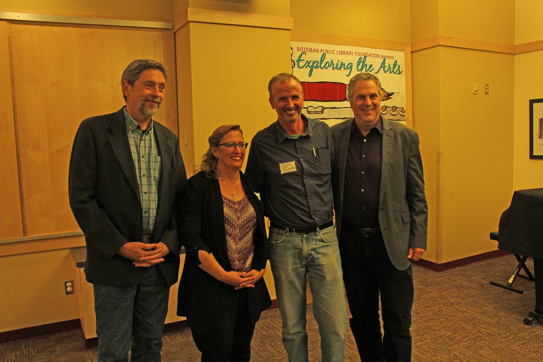 Jim Robbins, me, John Clayton, and David Abrams.