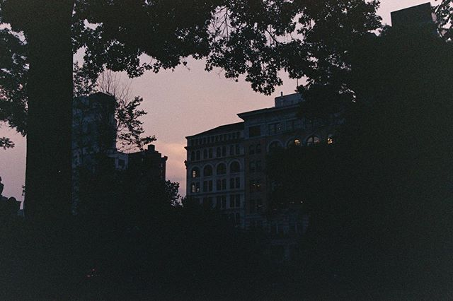 Sunset in Union Square NYC — #35mm #kodakgold200 #filmcommunity #film #filmphotography #nyc