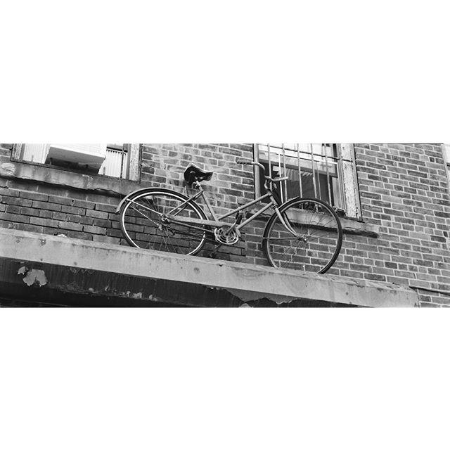 Bushwick Bucycle /// w/ @kodyklein     #kodaktrix500 #pentax67 #35mm #filmcommunity #filmphotography #nyc #blackandwhite #bicycle #streetphotography
