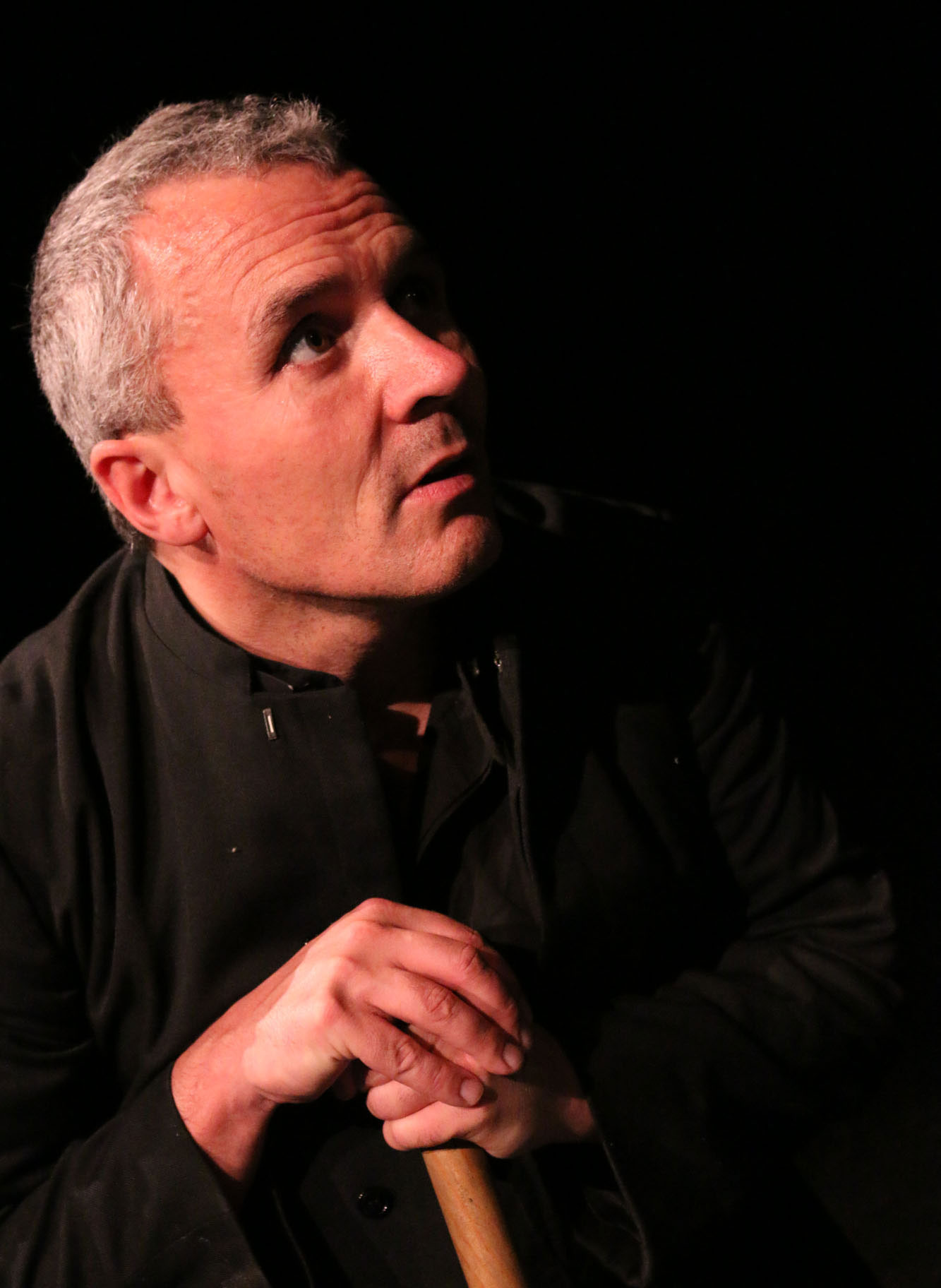 Father Joseph McGrath gets in character as a priest in The Gaiety School of Acting's Advanced Performance Year Showcase. June 2016