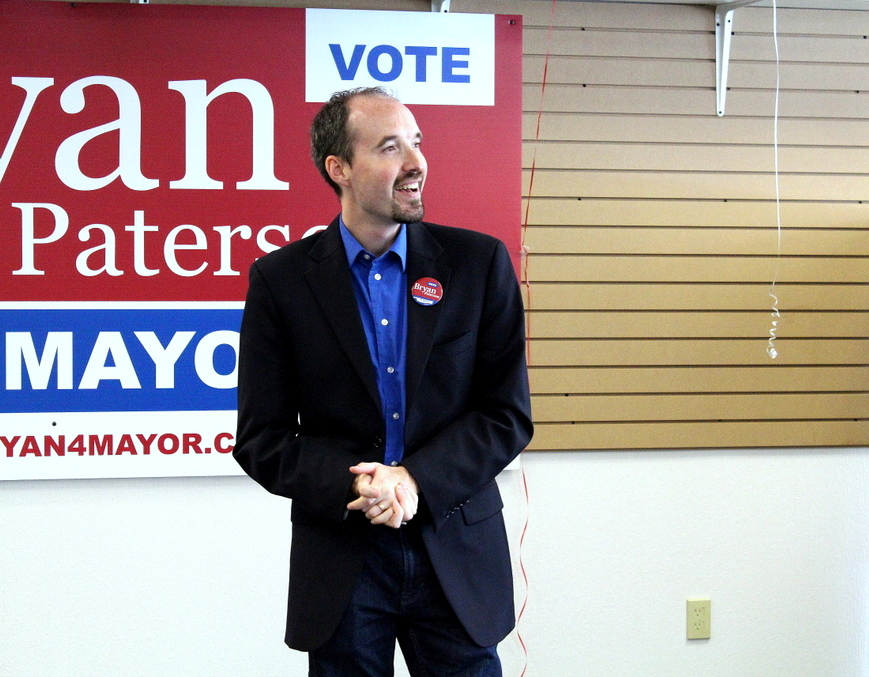 The happy mayoral candidate.