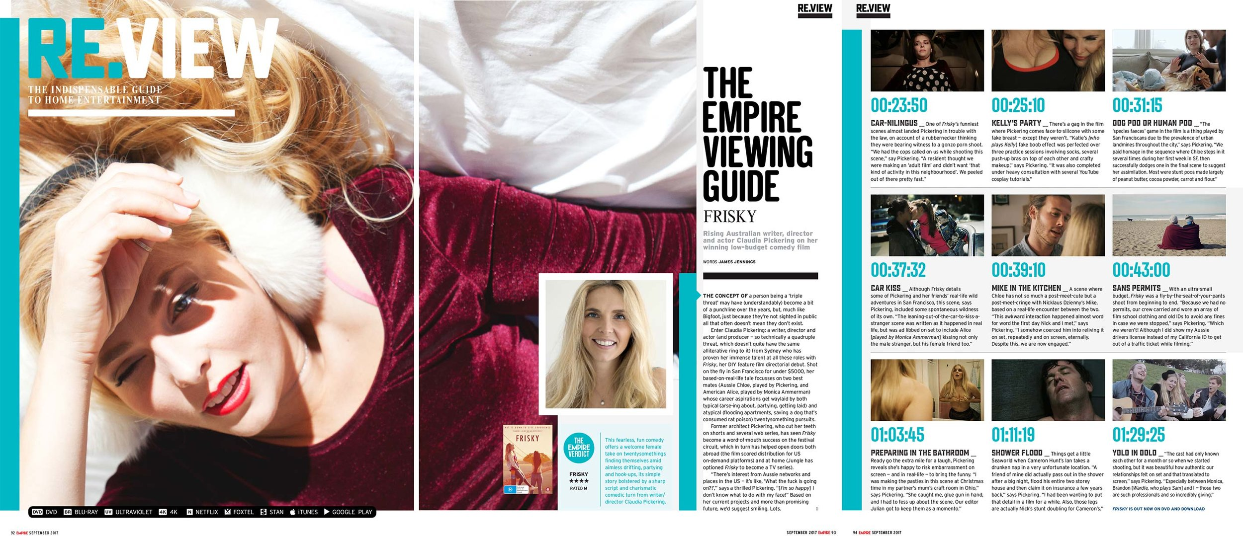 Empire Magazine: Frisky Review & Viewing Guide - by James Jennings