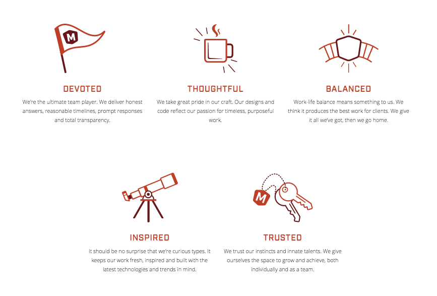 Sit Down, Grab a Cup. - We built out a five-point mission statement that conveyed what the brand most emulates, and their ultimate goals to make the client a communicative partner in all strategies, rather than a distant cousin.