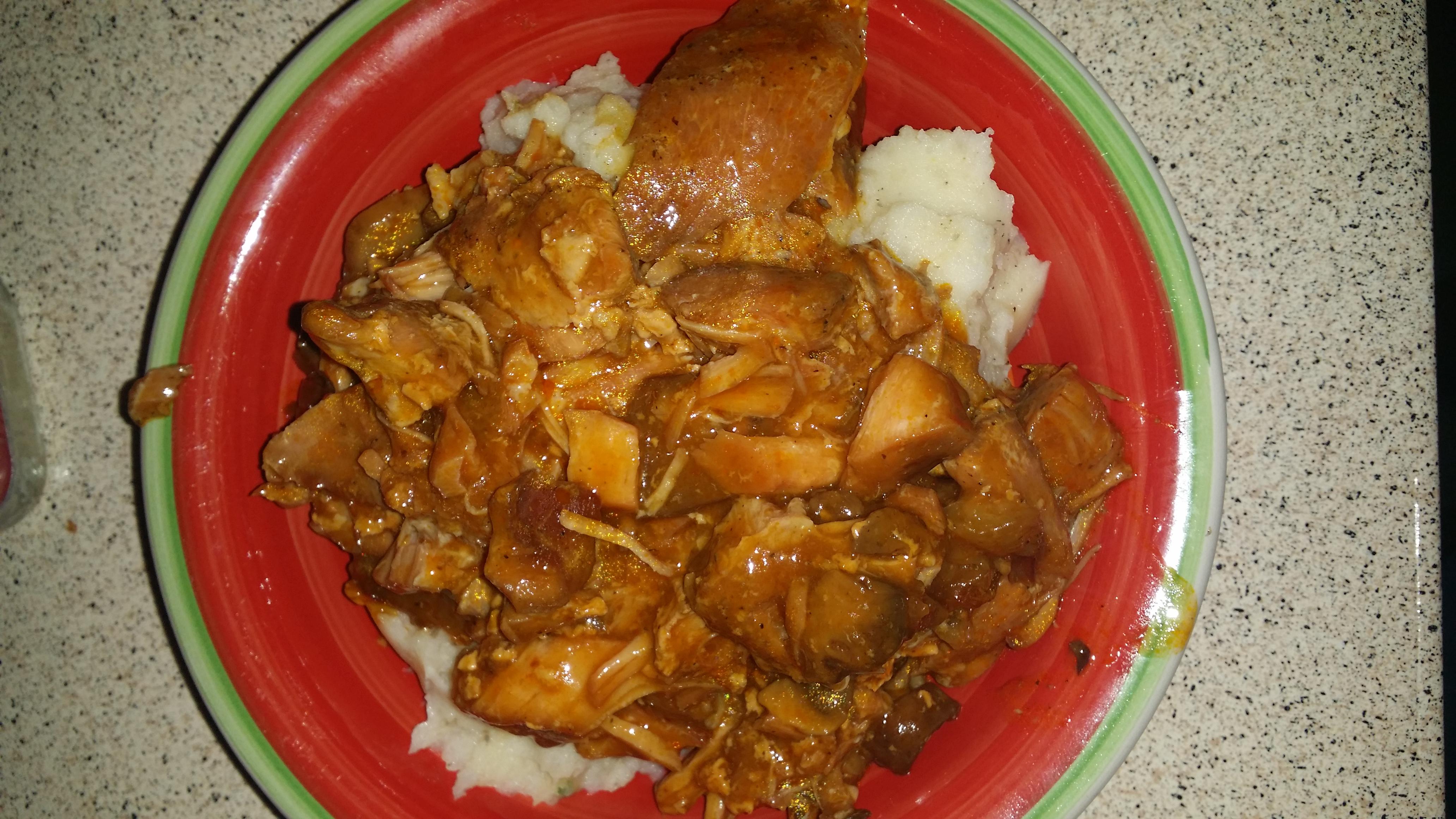 Finished Smothered Pork Chops