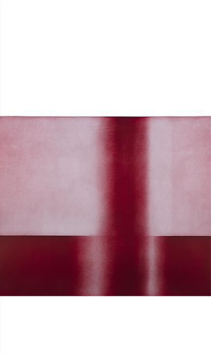 """Needle Through Brick Color aquatint 72"""" x 42"""" 2012"""