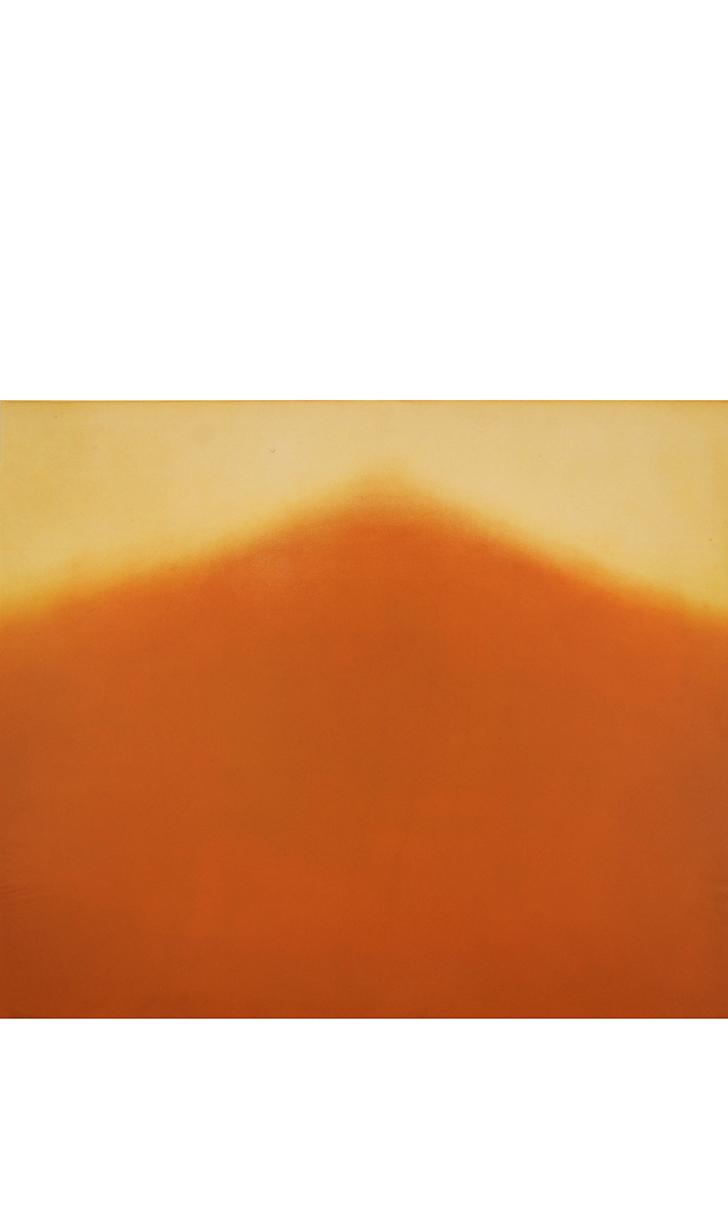 """High Noon Sword (Amber) Color aquatint 72"""" x 42"""" 2015"""