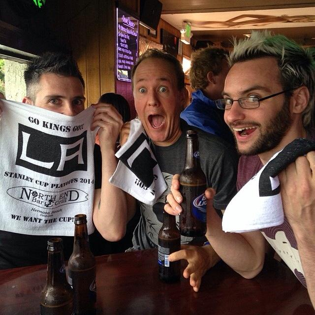 """Our first Kings Game... which they win... and now we have to watch every one in the Play offs as we are """"Good luck Charms"""".... been called worse. Still don't understand the game."""