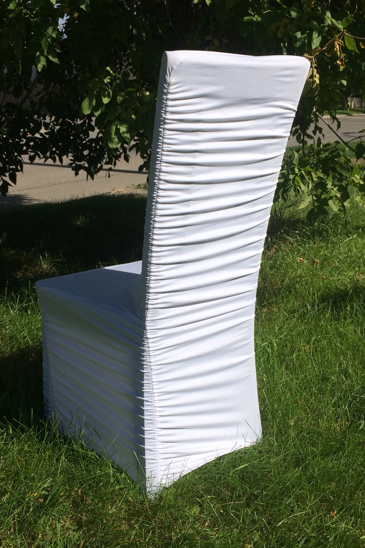 RUCHED STRETCH CHAIR COVER