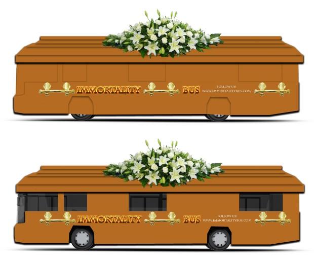 Immortality Bus design by Rachel Lyn