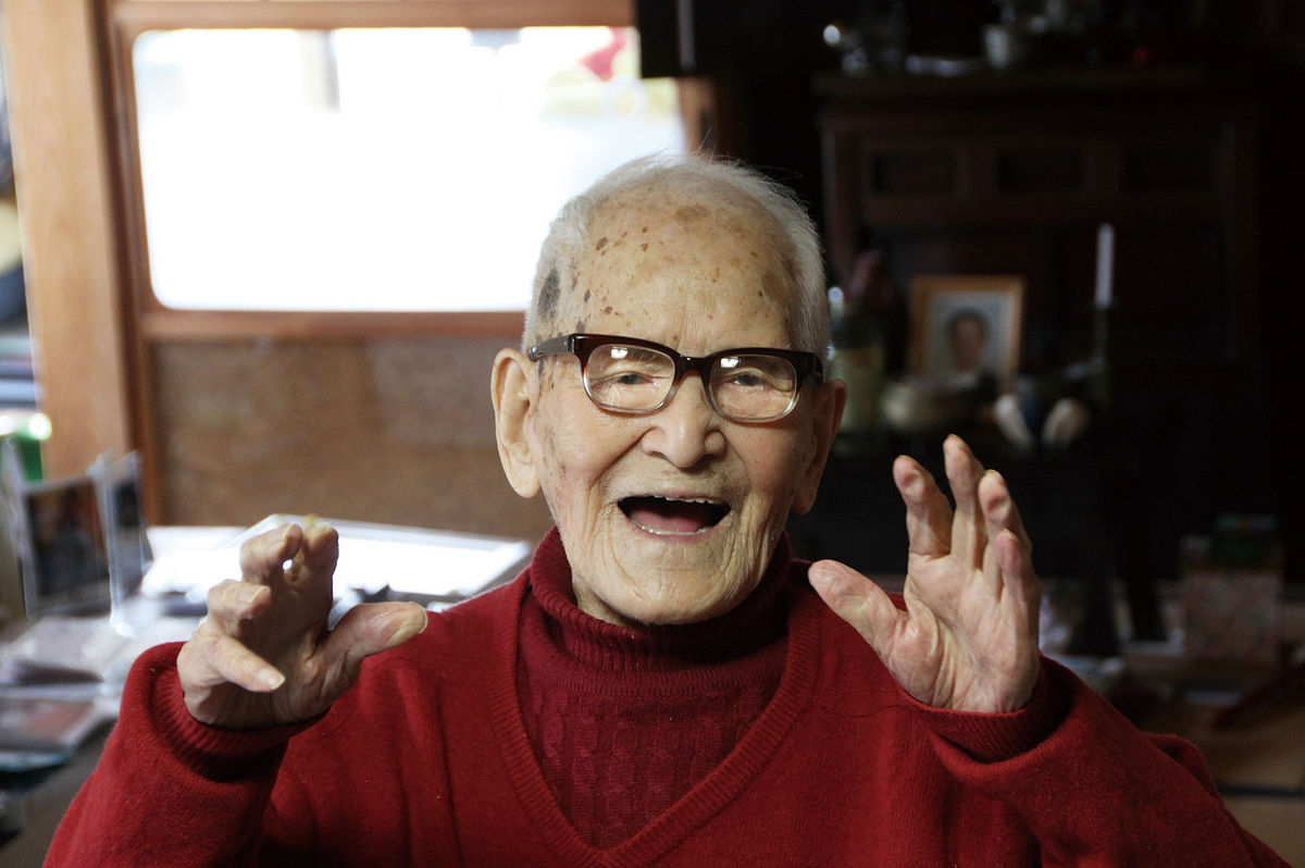 Jiroemon Kimura,the oldest verified man in history,passedin2012at the age of 115 years.Source: Kyotango City Hall via Bloomberg