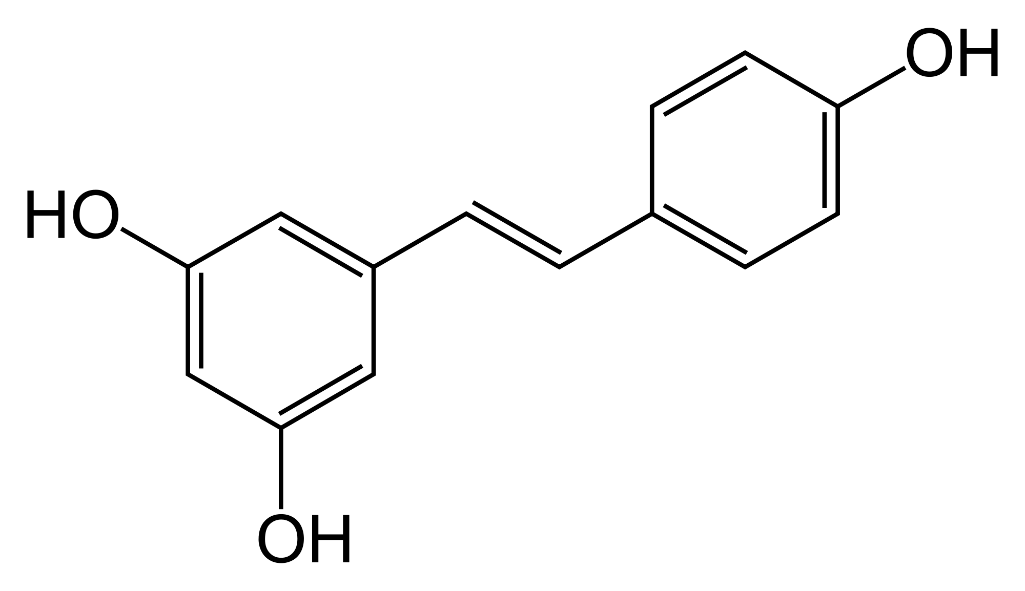 The chemical structure of trans-resveratrol