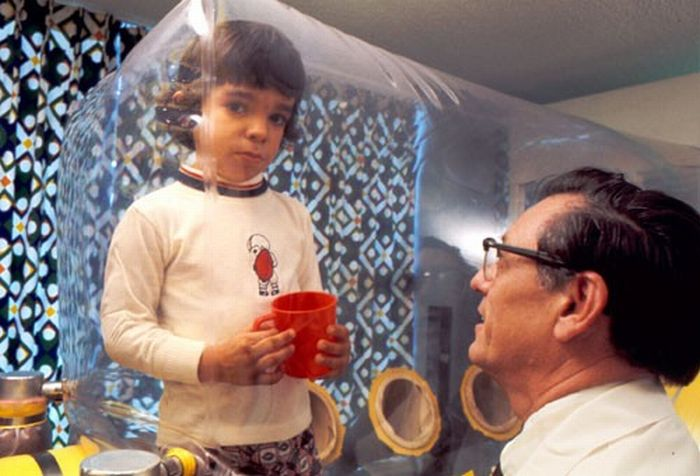 David Vetter was was born with SCID and lived in a sterile bubble. He died in 1984 at 12 due to complications from a bone marrow transplant. Credit: Baylor College of Medicine Archives