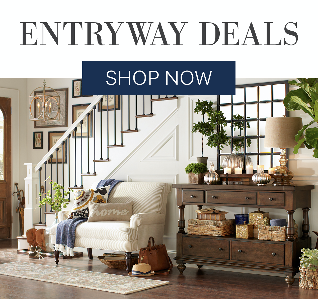 SL:  Behind door #1? Entryway deals!  TL:  Savings so good, they feel like a grand prize.