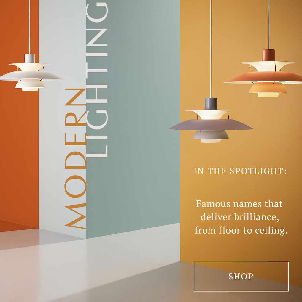 SL : Spotlight on: modern lighting that delivers brilliance  TL : Lights that double as art. Make the switch.