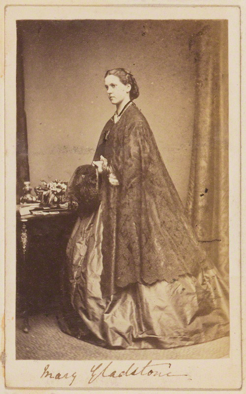 Mary Drew (née Gladstone), by unknown photographer, albumen carte-de-visite, 1860s, 3 1/2in. x 2in. (90 mm x 56 mm). Given by Ripon College, 1976. NPG Ax68088.  Photographs Collection , National Portrait Gallery.  License .
