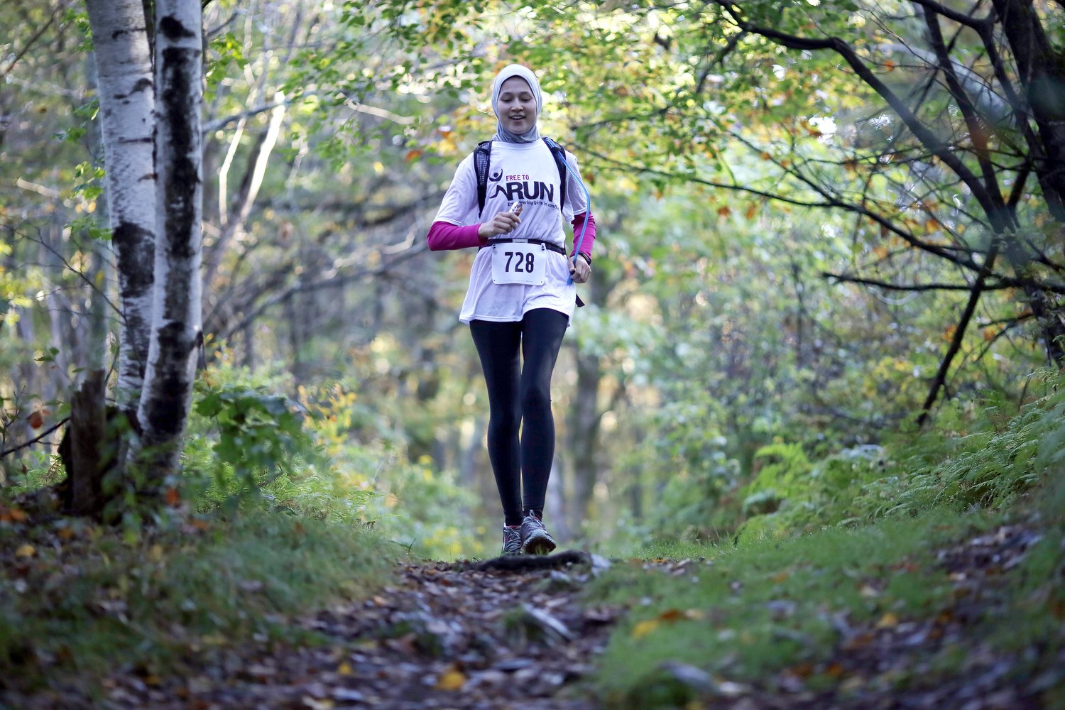 Farahnaz on course. Photo credit Berkshire Eagle.