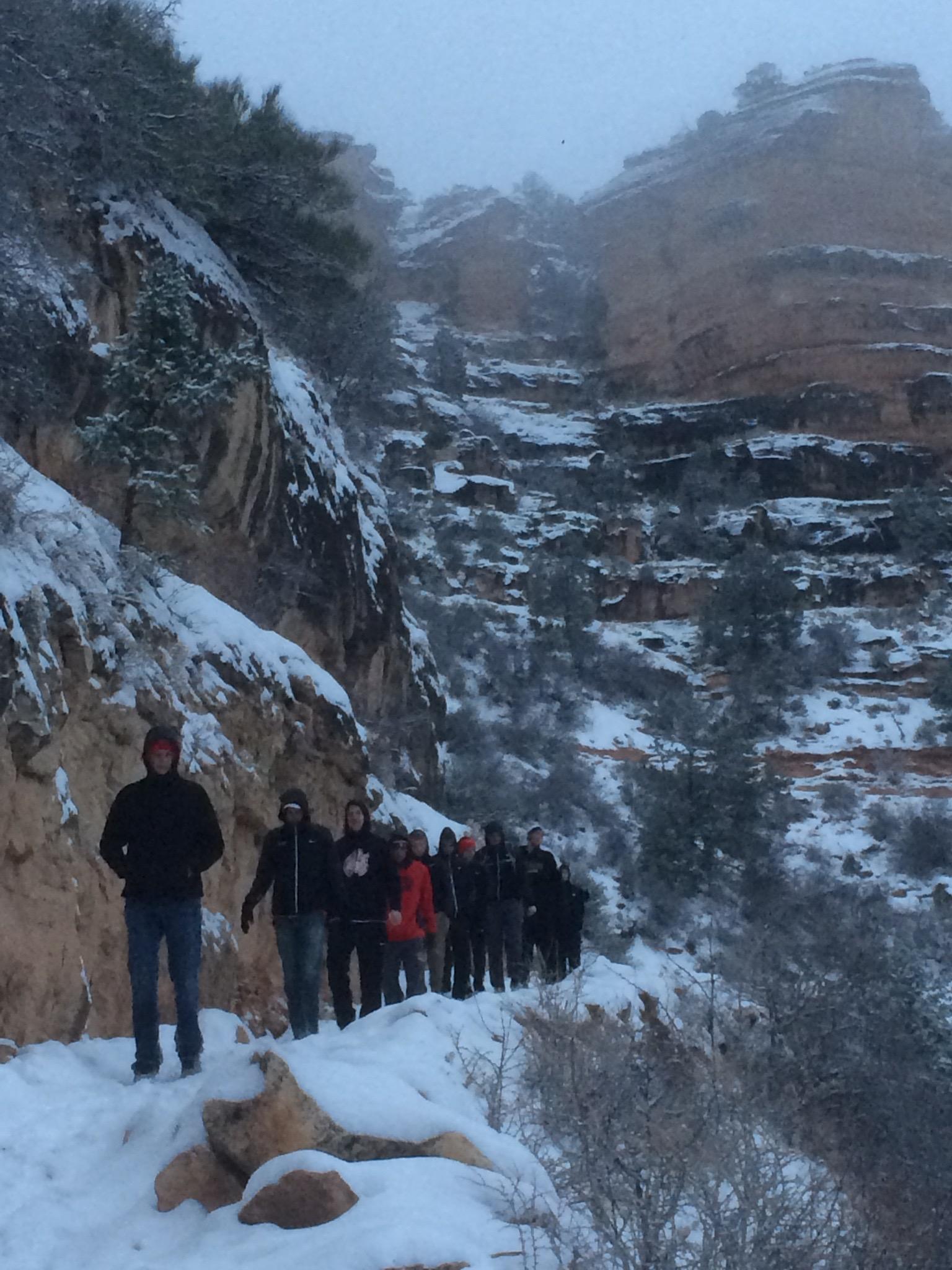 IWU hiking down