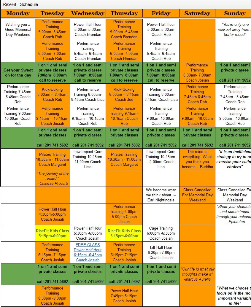 RiseFit Weekend Schedule 3
