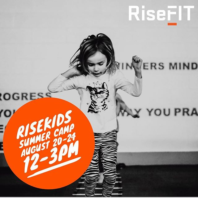 SIGN UP NOW FOR POST SUMMER KIDS CAMP @ RiseFIT! 🚨🚨 Not sure what to do with the kids after Summer Camp ends? RiseFIT is offering Post Summer Camp from August 20-24 from 12-3pm for only $195/week or $47/daily! Visit our website www.risefit.com/kids to reserve your kids spot today!! #summercamp #bergenmoms #bergencounty #postsummercamp #kidscamp #fitnessforkids #kidsfitness #fit #fitness