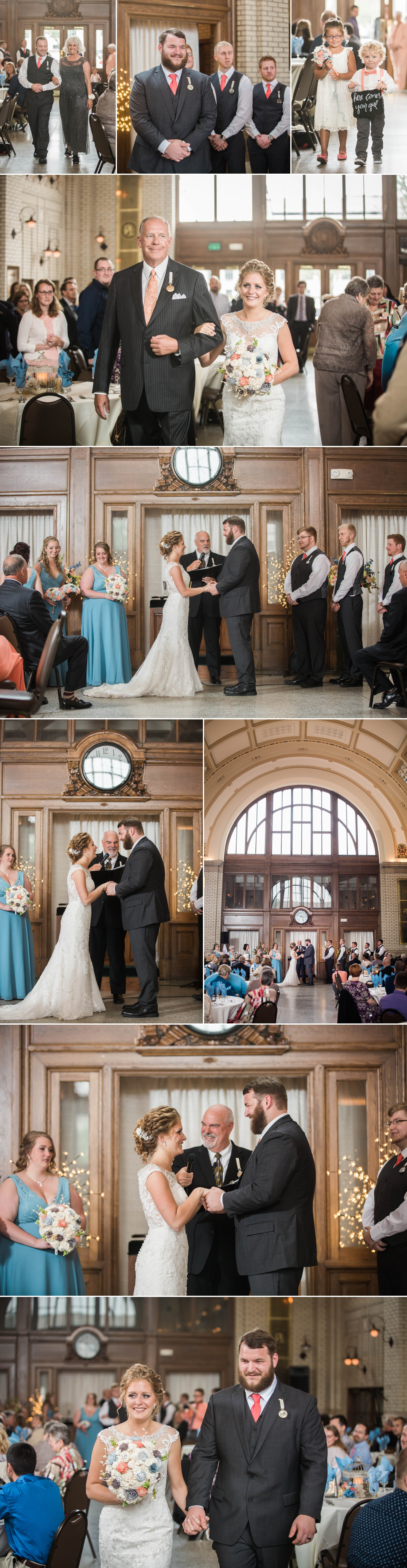 wedding day - wedding ceremony - bride - groom - train station