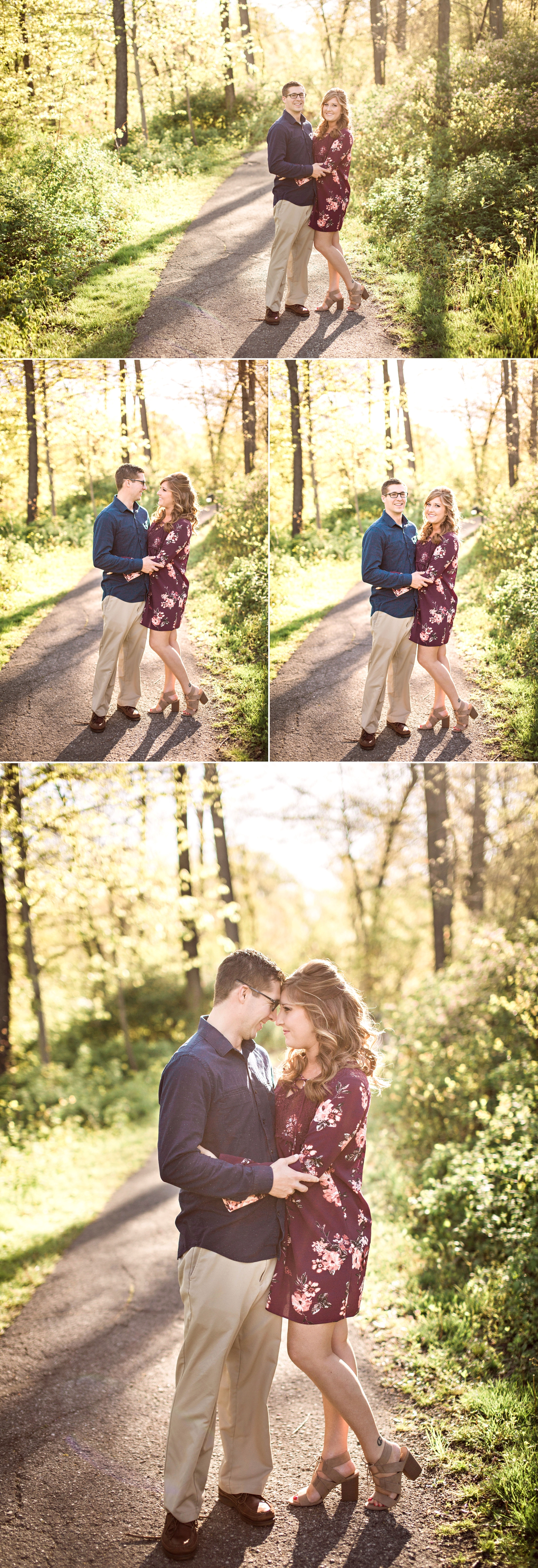 engagement - woods - engaged - love - pokagon state park