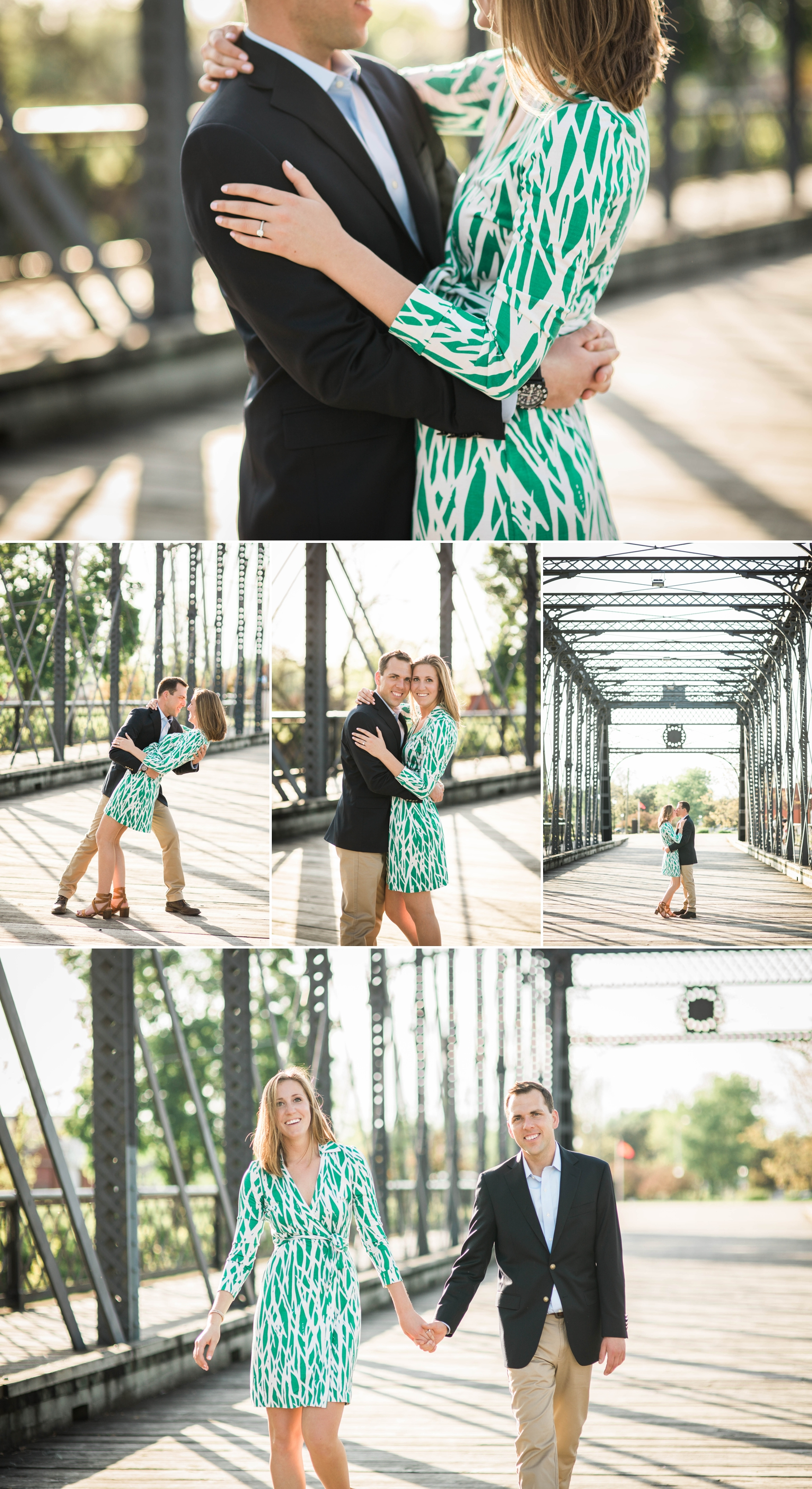 engagement-engagement session-love-downtown-wells street bridge