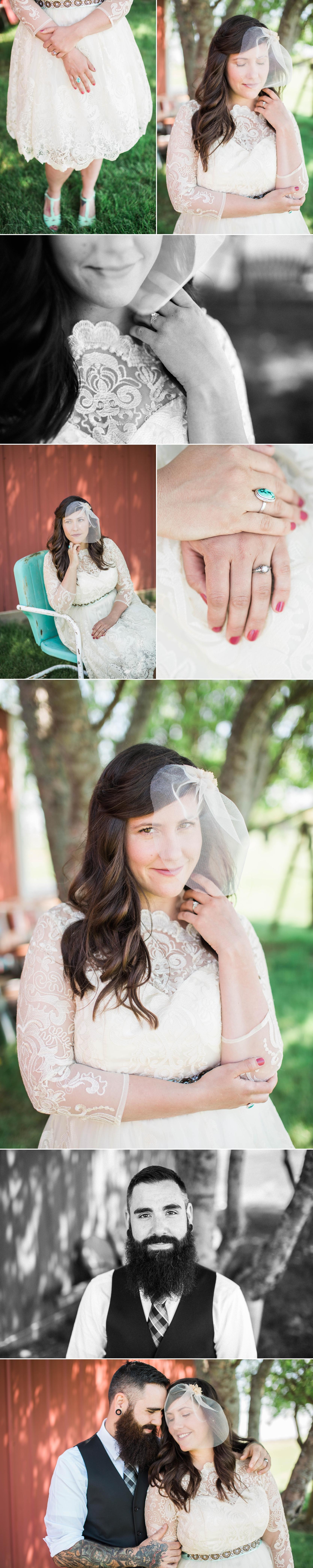 wedding-midwest-indiana-bride-groom-hike-pond-midwest wedding-tattoo-vintage