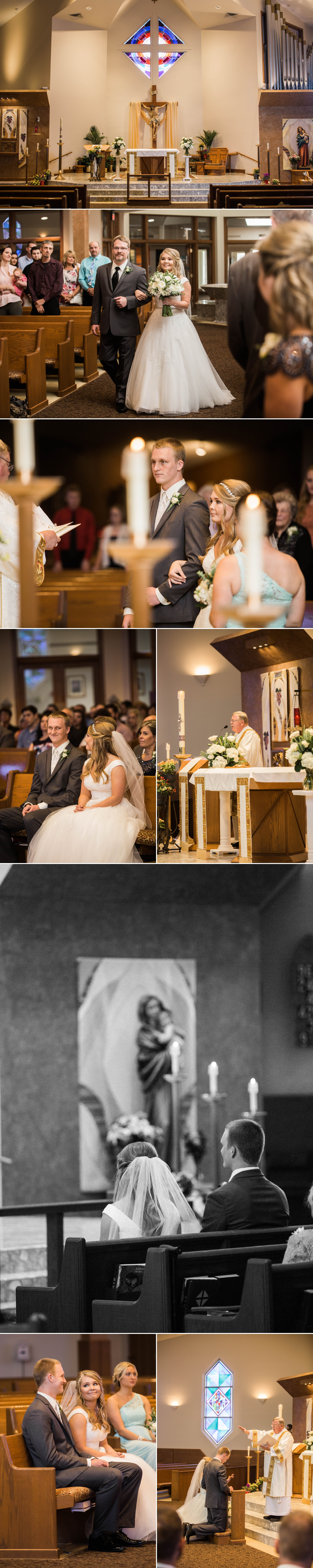 fort wayne - ceremony - wedding - church - bride - groom