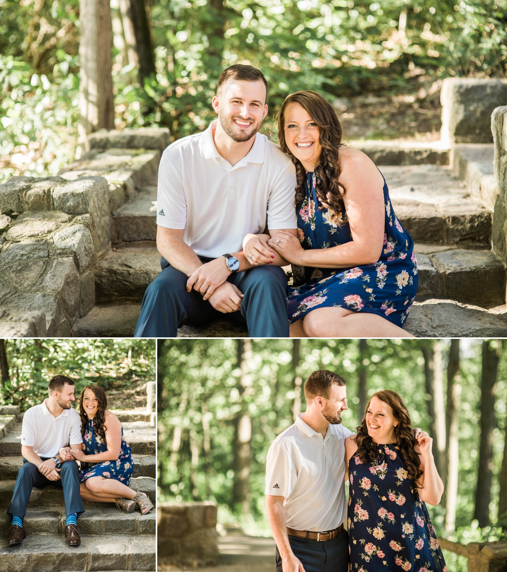 engagement - engagement session - pokagon - love - bride to be - woods - fort wayne - indiana - beach - lake