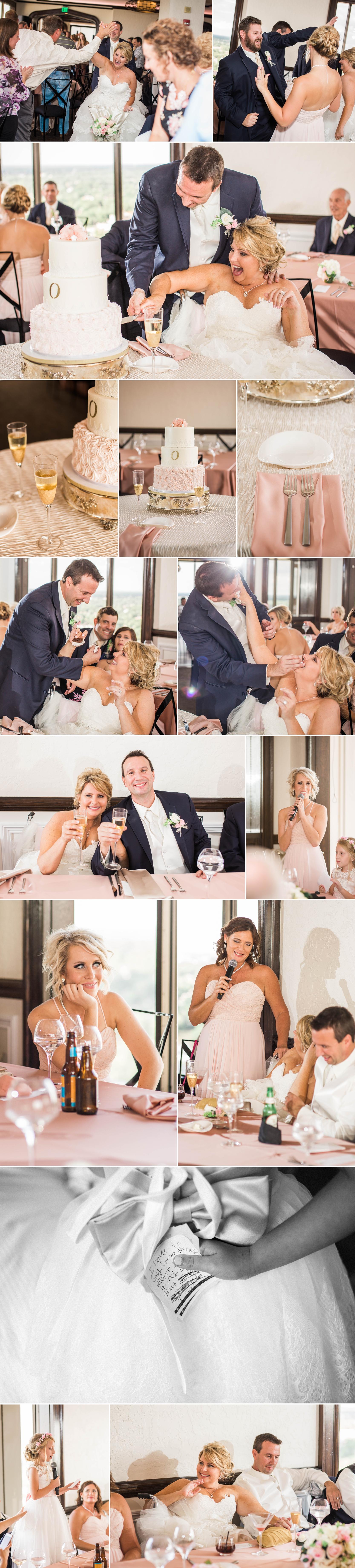 wedding-wedding day-downtown fort wayne-bride-groom-love-wedding party-reception-empyrean-wedding cake-toasts