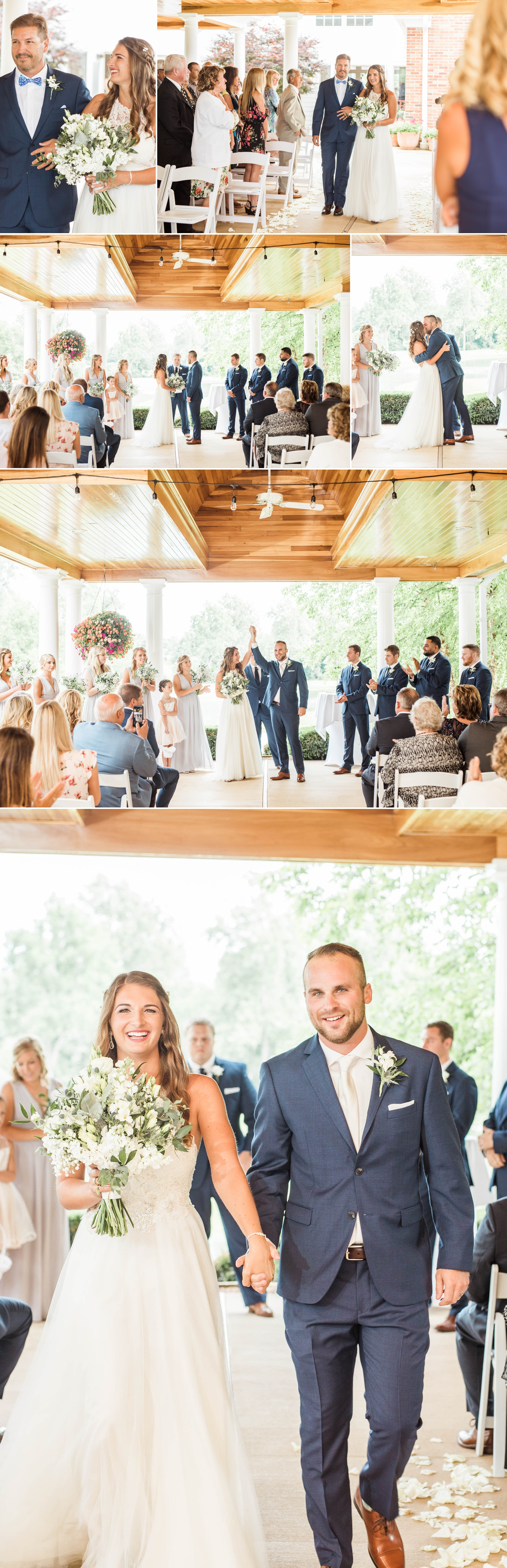 bride groom indiana wedding ceremony outdoors patio