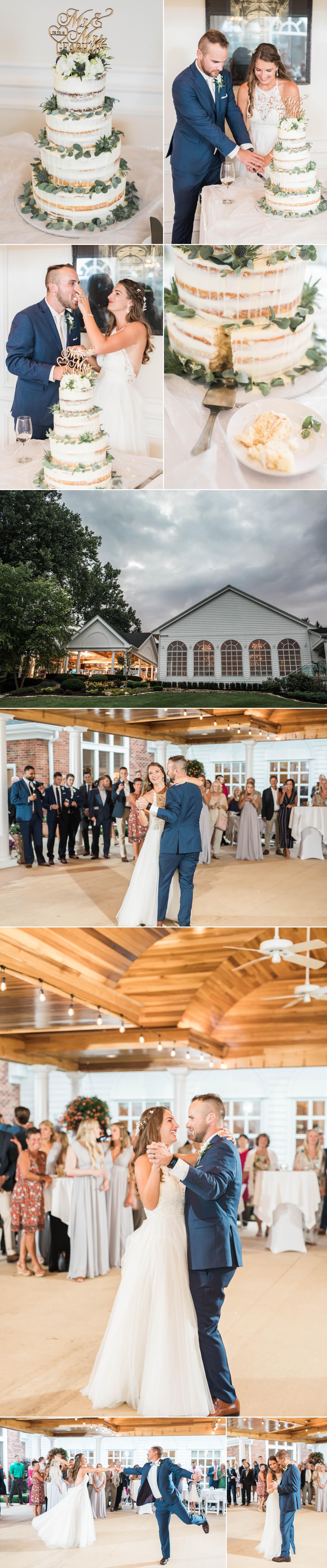 bride groom indiana wedding reception