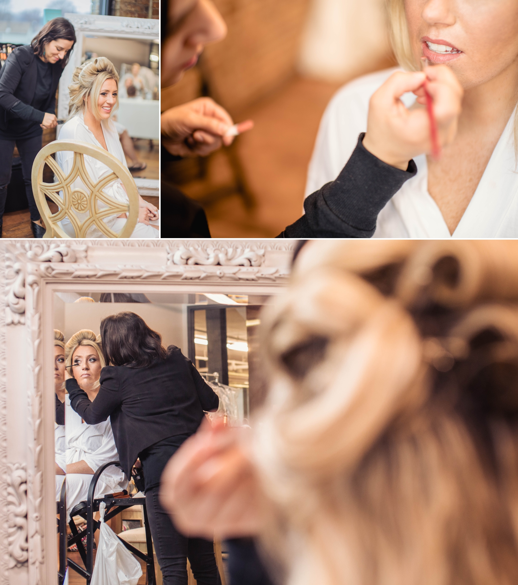 bride getting ready something blue stylists biltwell event center
