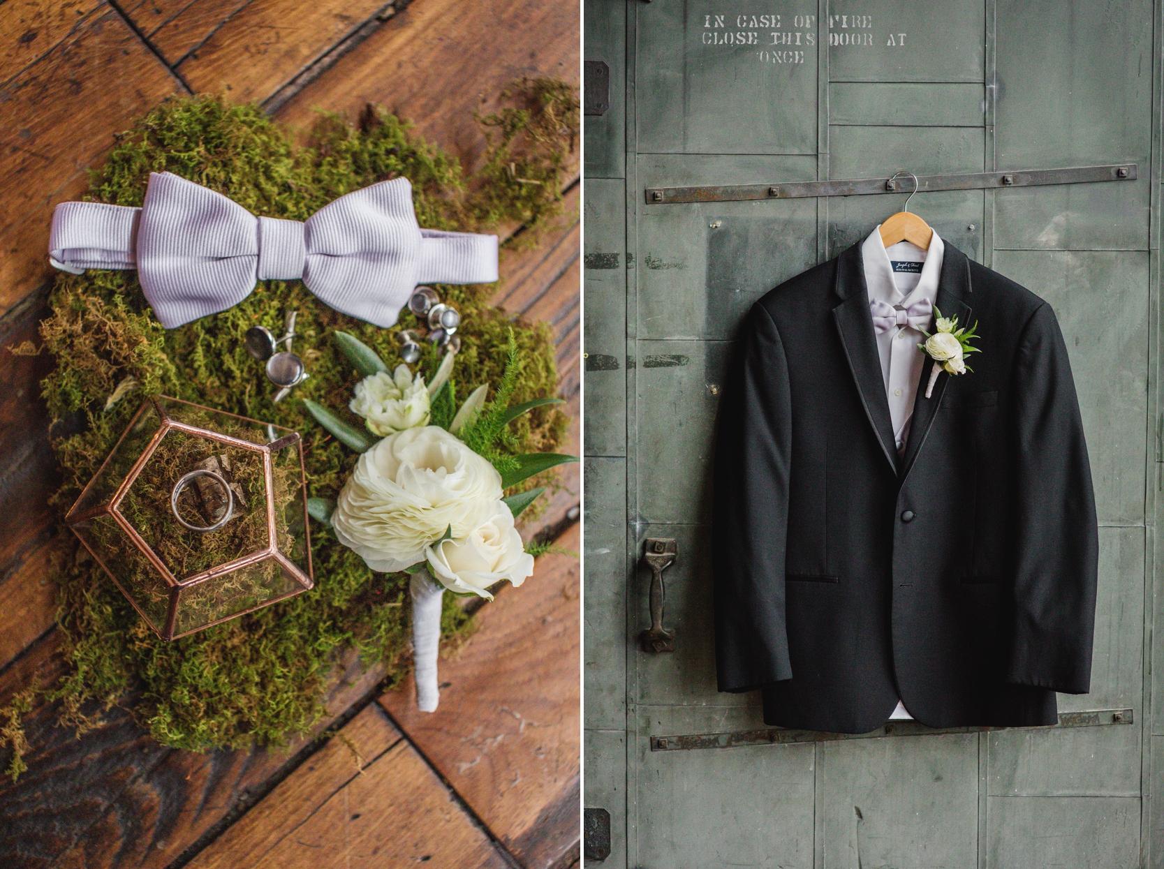 wedding details tux  biltwell event center
