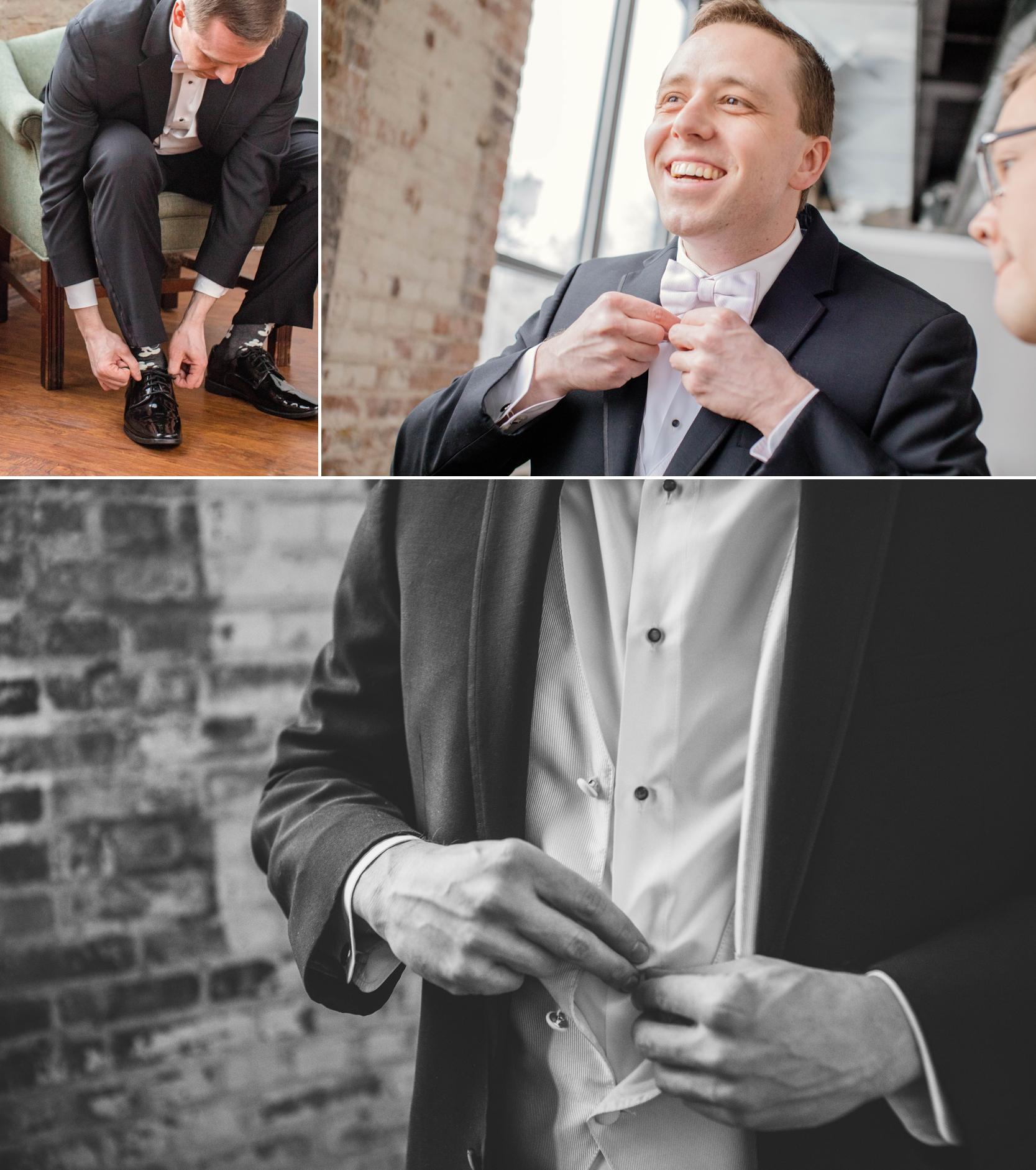 groom getting ready biltwell event center