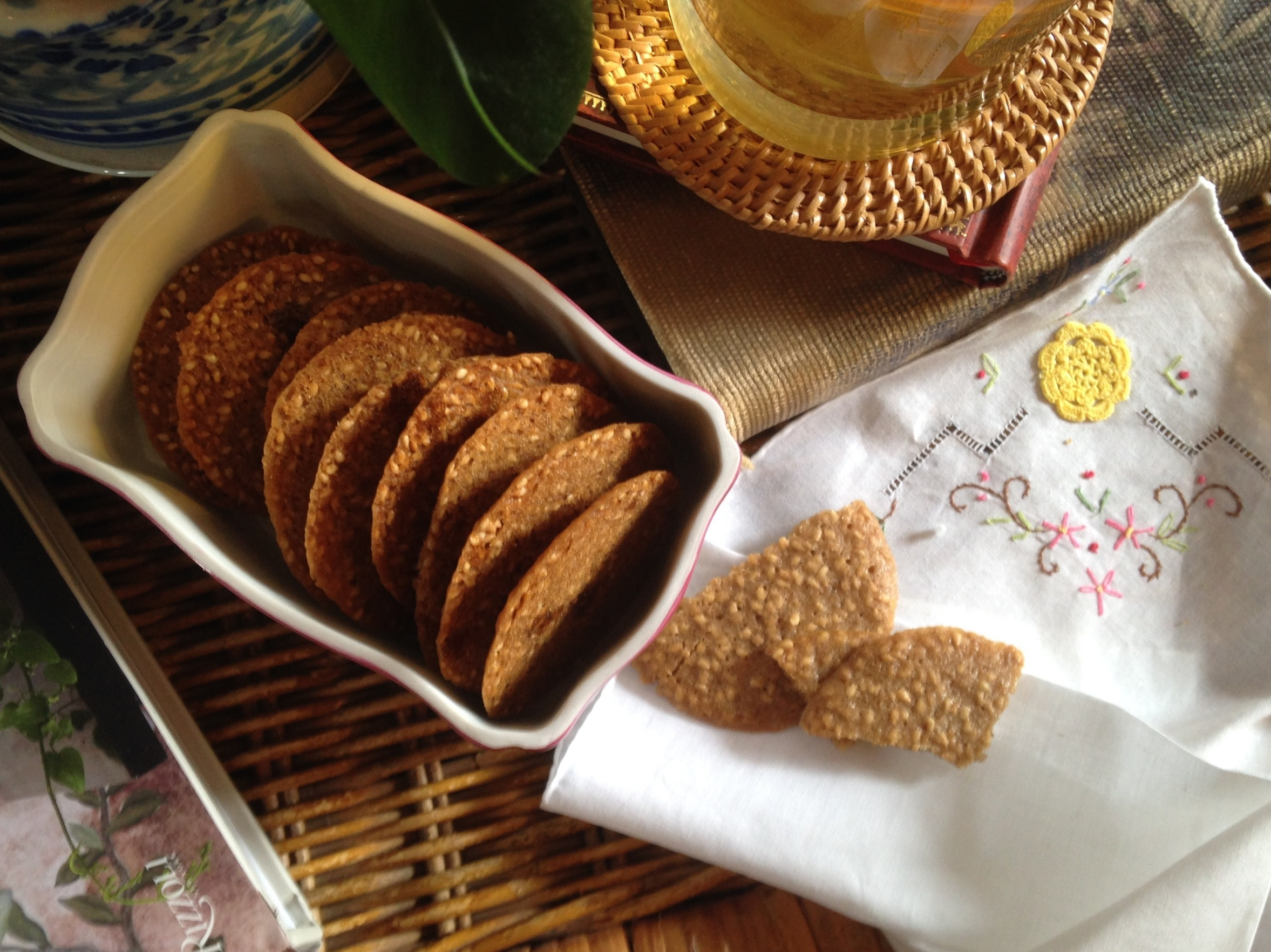 Benne Seed Wafers (Sesame Cookies). Scroll down for the recipe!