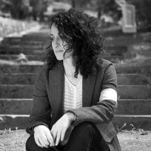 Elmina at Old Jewish Cemetery, Sarajevo, 2012. Photo credit: R. Vrgova