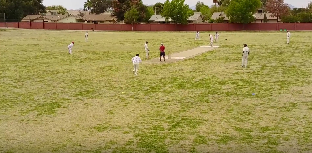Cricket match in Phoenix, Hussein Mohamed