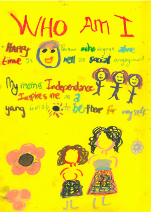 Figure 3: Young Zambian/DRC woman's narration of self in relation to other (age 17)