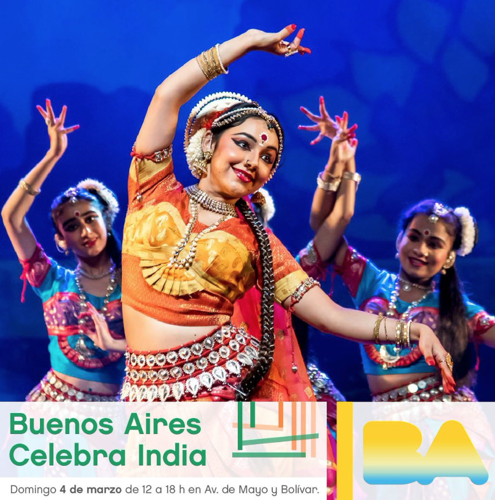 """Promotional material produced by City Government for """"Buenos Aires Celebra India.""""  Source"""