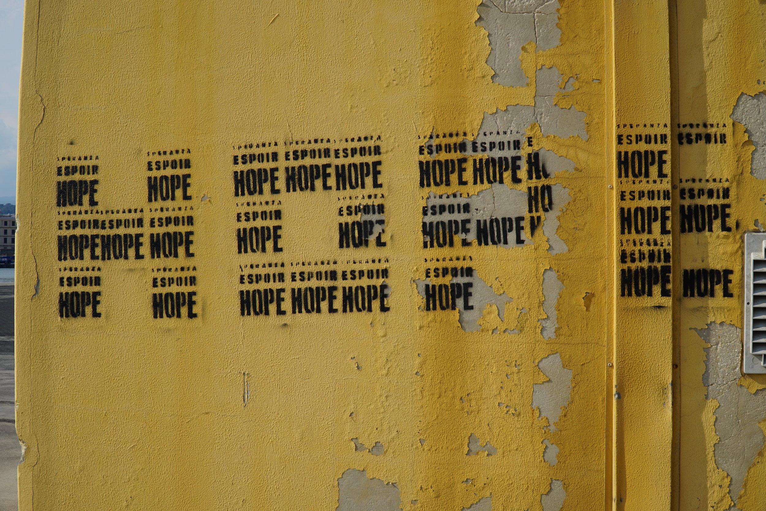 Hope at the port of Catania. Credits: Lauren Heidbrink