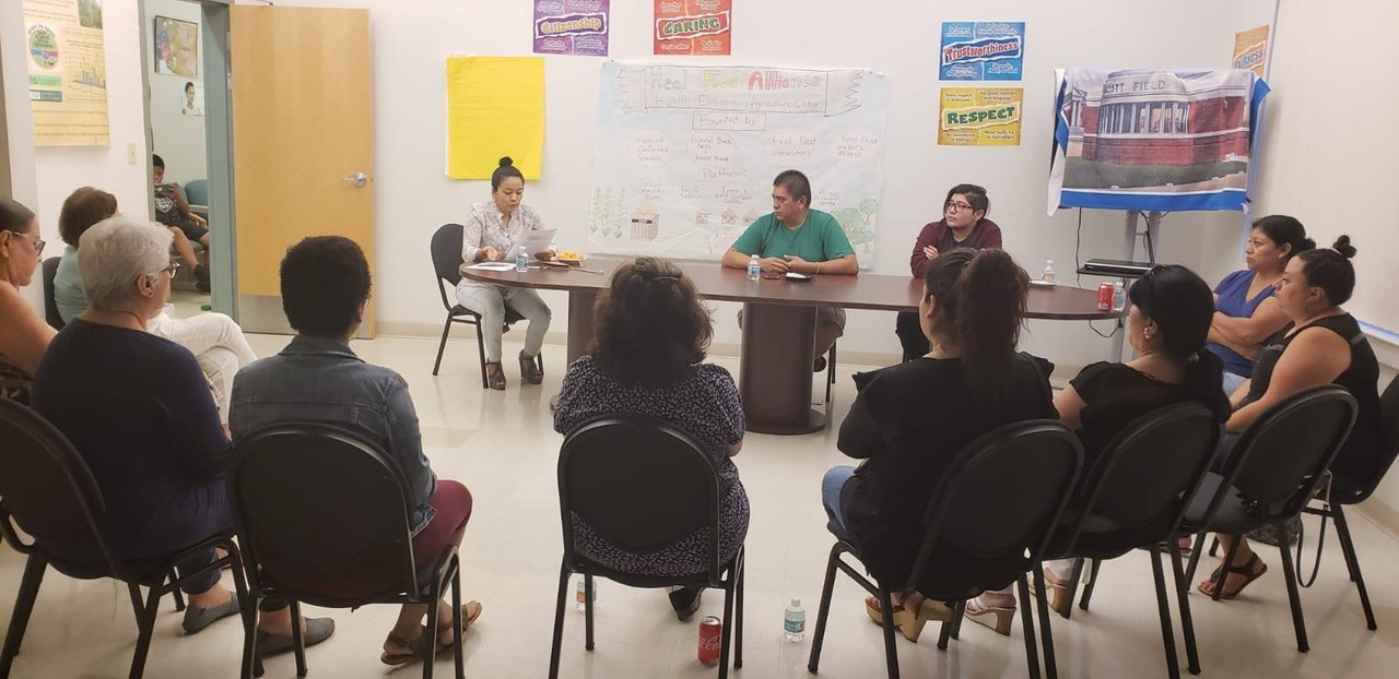 A meeting facilitated by leaders of the LGBTQ+ farmworker group. Photo by Yesica Ramirez.