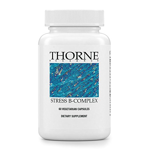 B-VItamin for Stress: THorne Stress-B Complex   Recommended by my functional nutritionist as a result of my blood labs. I take this daily in the morning.