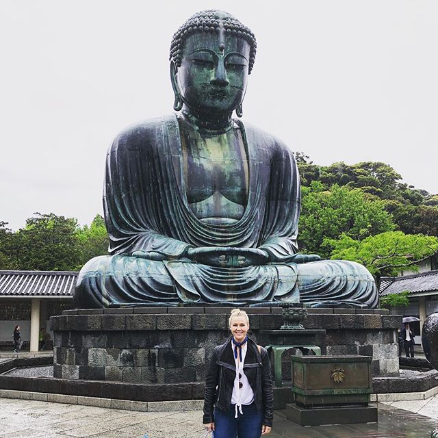Yesterday was my first full day in Japan and I had happened to find a Zazen Meditation Class that only occurred once monthly in English and happened to be on the day after I arrived 🙌🏼. I took the train about an hour south of Tokyo to Kamakura and wandered around the rainy alleyways of shops and restaurants. I stopped by to see The Great Buddha statue, and then walked 45 minutes to the oldest Zen training monastery in Japan, Kencho-Ji, where I took my class led by four Zen Buddhist monks. I've been meditating for years but never truly learned formally so this was a real treat, especially in such a sacred space (construction began in 1227!) . I'm still getting used to eating at restaurants alone and not being able to tell if people are laughing at me or with me but it's certainly training for the soul 😂. Eating gluten and soy make me feel permanently hungover but it's a sacrifice I'm willing to make to enjoy the foods of the culture for now. . Im not gonna lie, I miss @culinaryrecovery a lot, but I'm proud of him and of us for prioritizing health before anything and for our independence too. For those curious, our interview with @almost30podcast is set to come out on 5/21 and I'm excited to share a bit more of our story ❤️ #danikasia #soloadventure #kamakura #japan